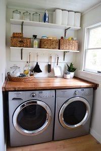 small laundry room organization ideasl