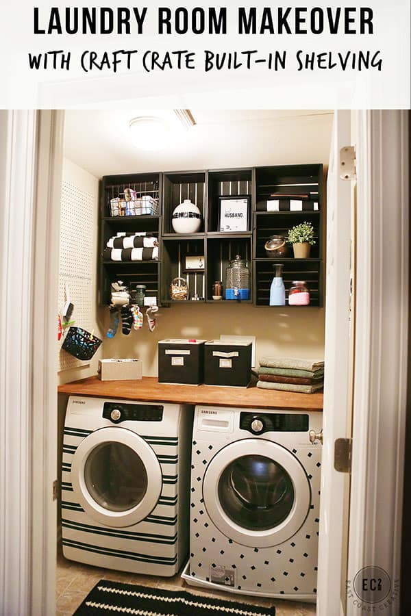 DIY small laundry room makeover