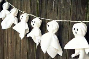 DIY Ghost Lighted Garland