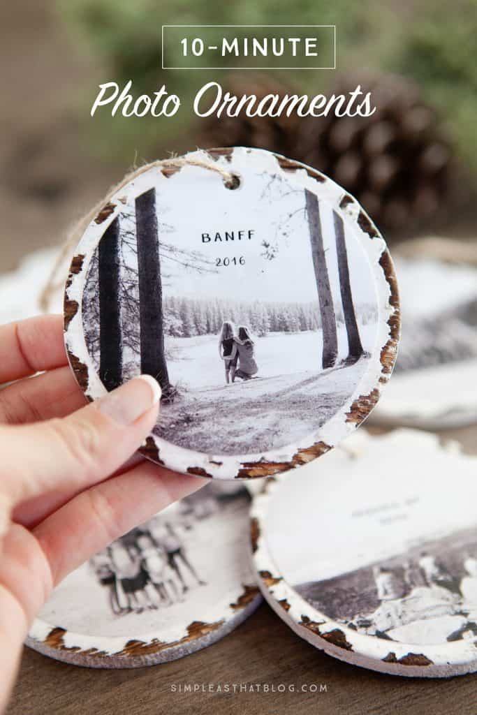 DIY Christmas Gift Photo Ornament