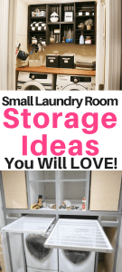 Small laundry room storage ideas - there are so many great ideas here! I love those laundry room drying racks!