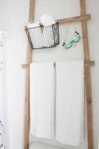 Over Toilet Storage Ladder