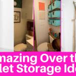 Amazing Over Toilet Organization Storage Ideas