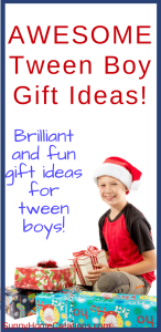 Awesome tween boy gift ideas. Brilliant and fun gift ideas for tween boys