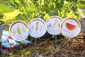Mason Jar Plant Markers