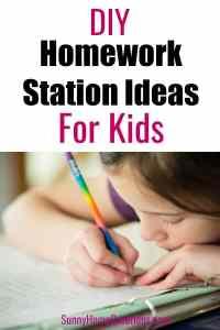 DIY Homework Station for Kids