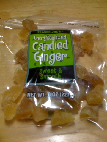 Trader Joe's Uncrystallized Ginger Candy