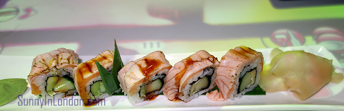 Inamo Restaurant London Seared Salmon Maki