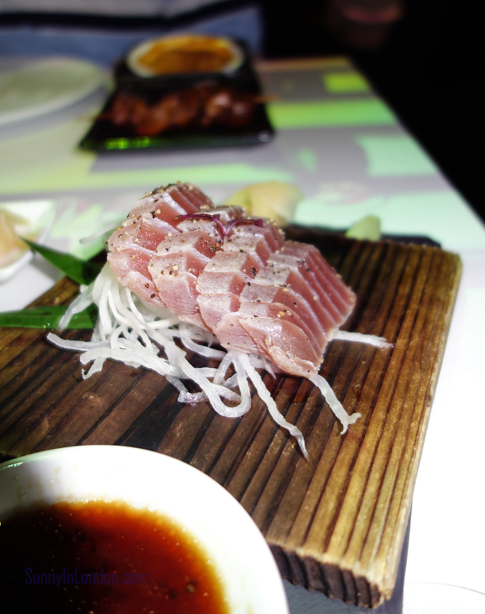 Inamo Restaurant London Seared Tuna Sashimi