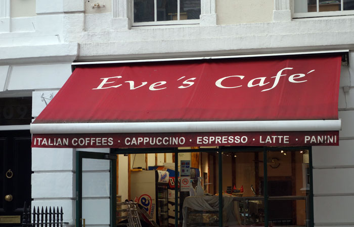 London Blogger 1995 Eve's Cafe London 2015