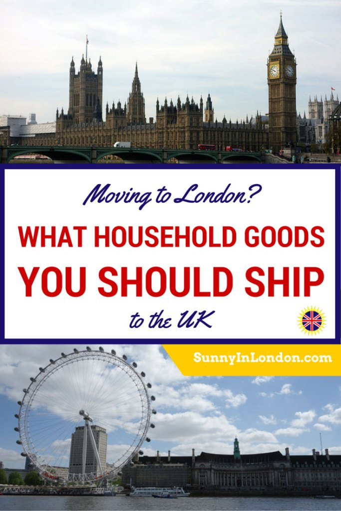 Moving to London as an American Expat: What Household Goods You Should Ship to the UK from the USA