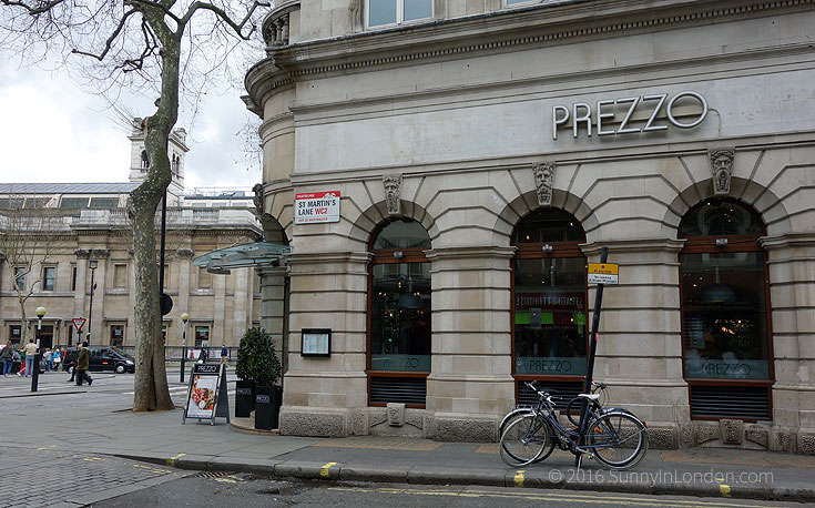Prezzo London St Martin's Lane Review Gluten Free Menu