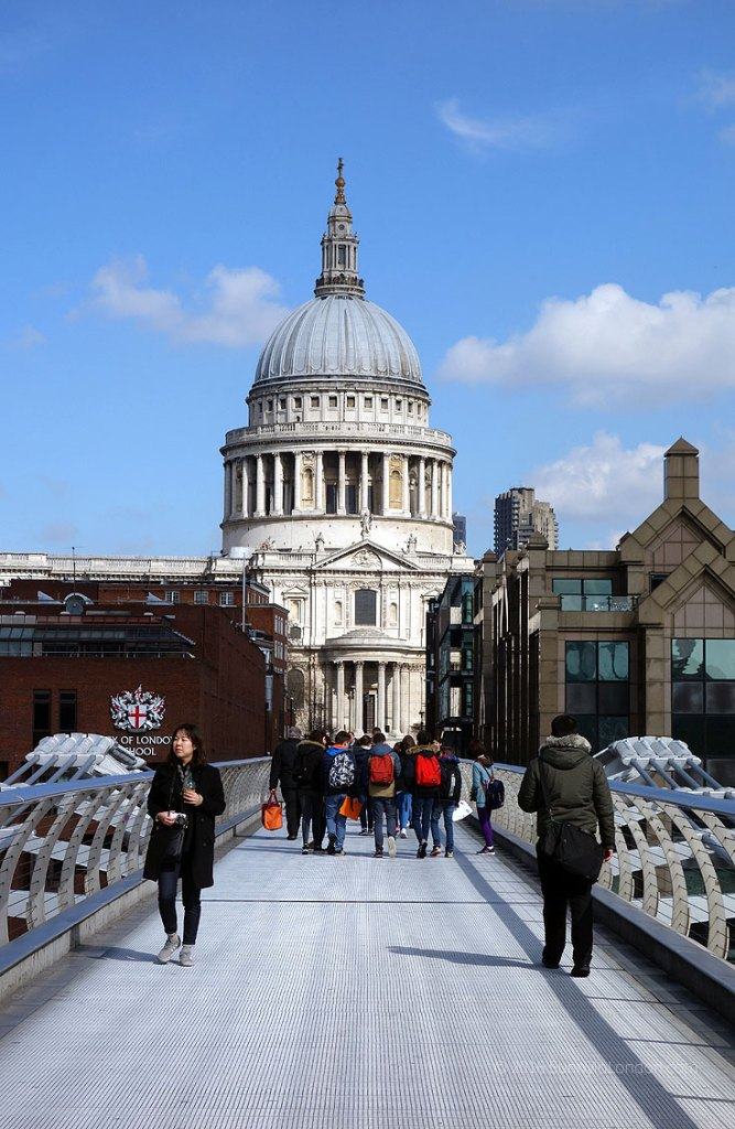 Best Places to Take a Selfie in London St Paul's Cathedral Millenium Bridge