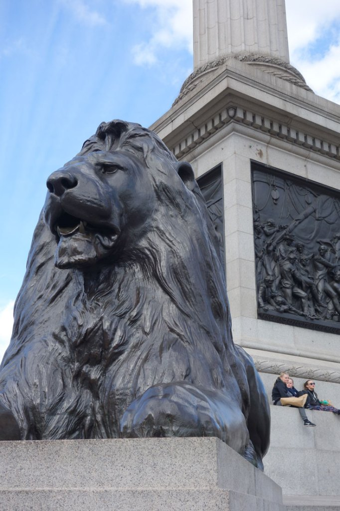 Best Places to Take a Selfie in London Trafalgar Square Lion