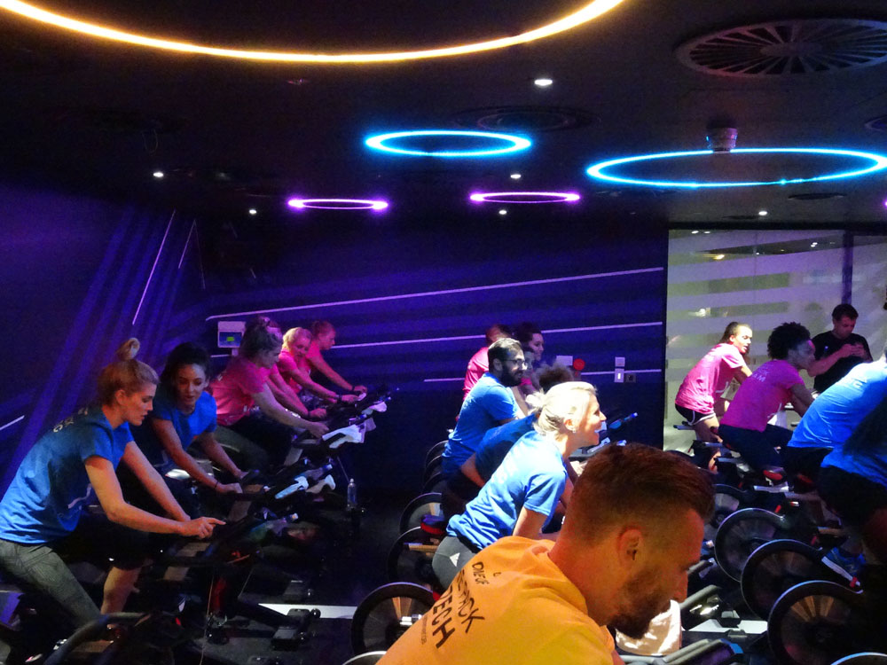 Virgin Active Gym Walbrook in London- The Pack group cycle class review