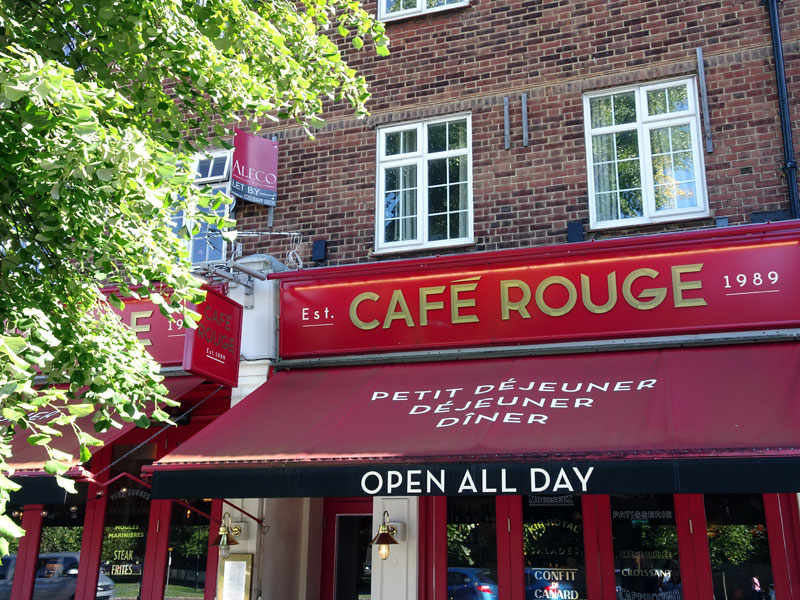 Cafe Rouge Southgate Breakfast