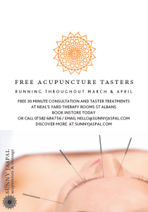 Acupuncture Tasters in St Albans