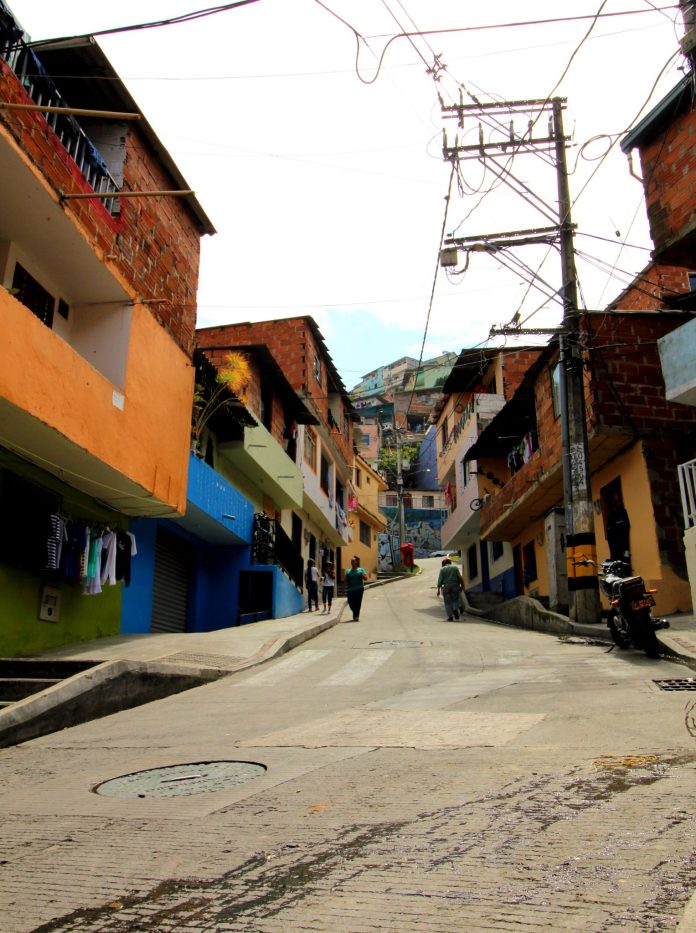 Medellin Comuna 13 Steep road