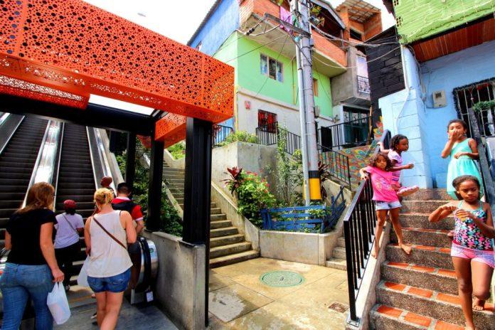 Medellin Comuna 13 Escalators