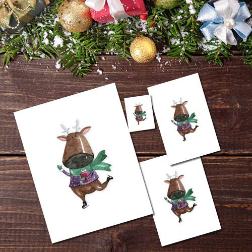 Skating Reindeer