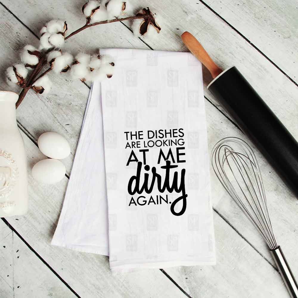 Dirty-looking-dishes-towel