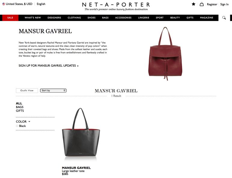 MANSUR GAVRIE at NET A PORTER