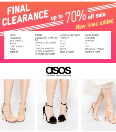 asos shoes up to 70off 20160202