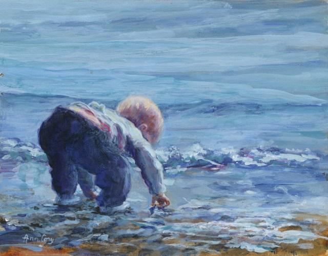 Ann Cory, Beach Treasure 14 x 18 acrylic
