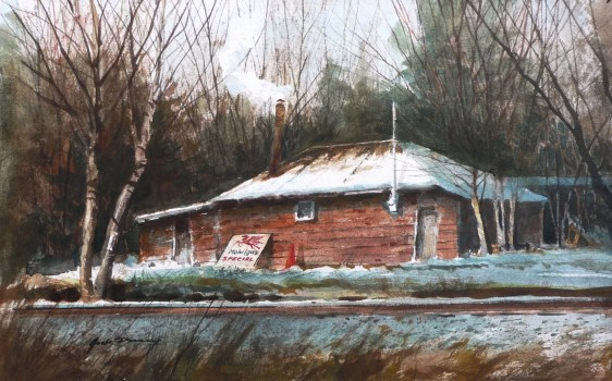 keeping-warm-watercolor-by-jack-dorsey-camano-island-wa