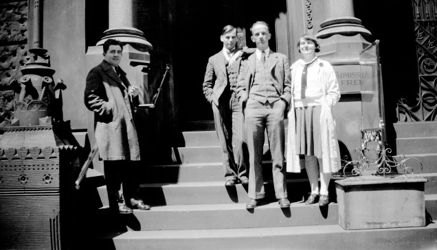 Sayre Cooney with other art students from the Pennsylvania Academy of the Fine Arts 1930