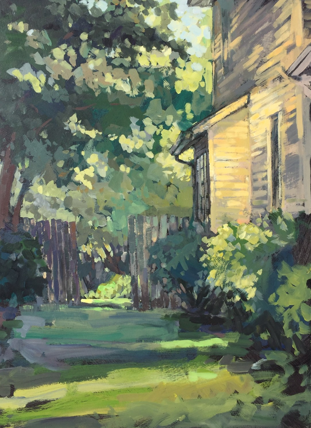 01 - Dappled Light, Old House - 24x18