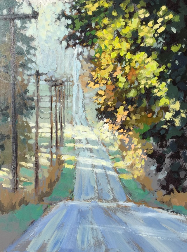 13 - Down The Long Hill - 16x12