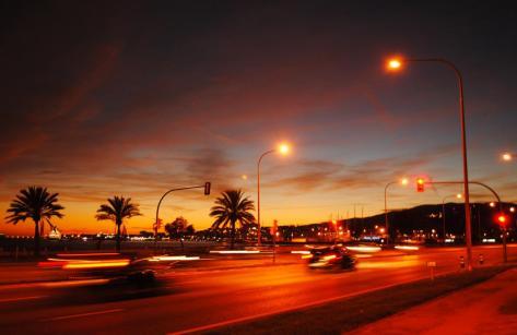 Sonnenuntergang Palma de Mallorca im Oktober