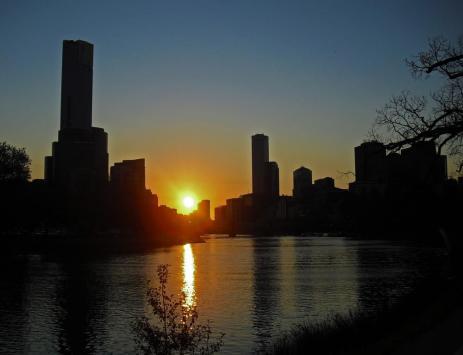 Melbourne Sehenswürdigkeiten Melbourne Skyline Yarra River