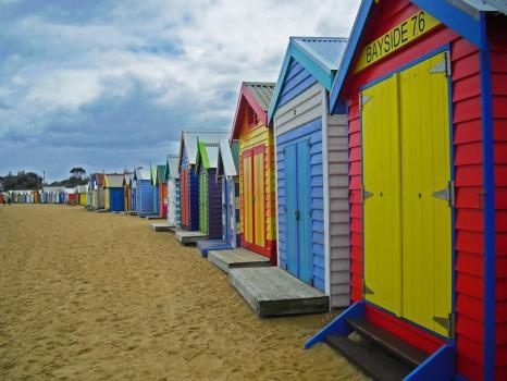 Sehenswürdigkeiten Melbourne: Brighton Beach in Melbourne