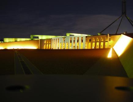 Roadtrip Australien Parlament Canberra