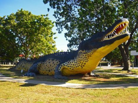 Roadtrip Australien Australia Big Things Krokodil