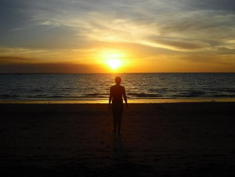 Roadtrip Australien Darwin Sonnenuntergang Mindil Beach