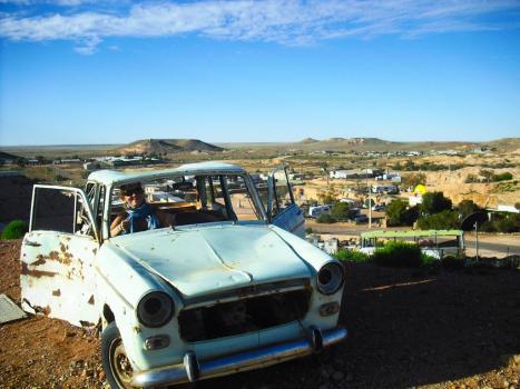 Roadtrip Australien Coober Pedy Auto