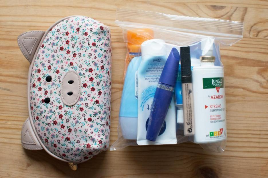 Nur mit Handgepäck reisen Bali Packliste Hygiene & Kosmetik