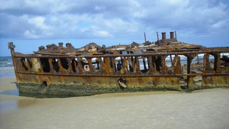 Australische Inseln Ostküste Schiffwrack S.S. Maheno auf Fraser Island