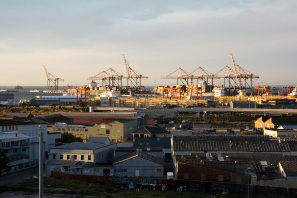 Aussicht Hafen Kapstadt