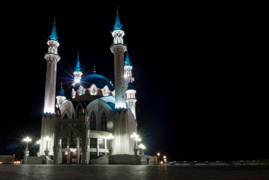 Kul Scharif Moschee Kasan bei Nacht