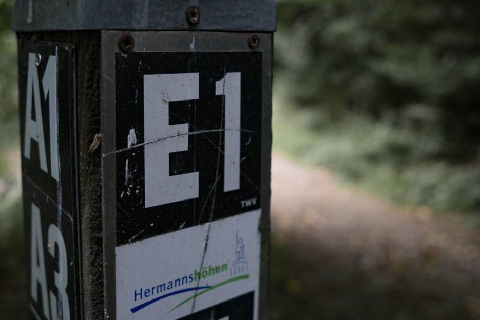 E1 Wegweiser Teutoburger Wald