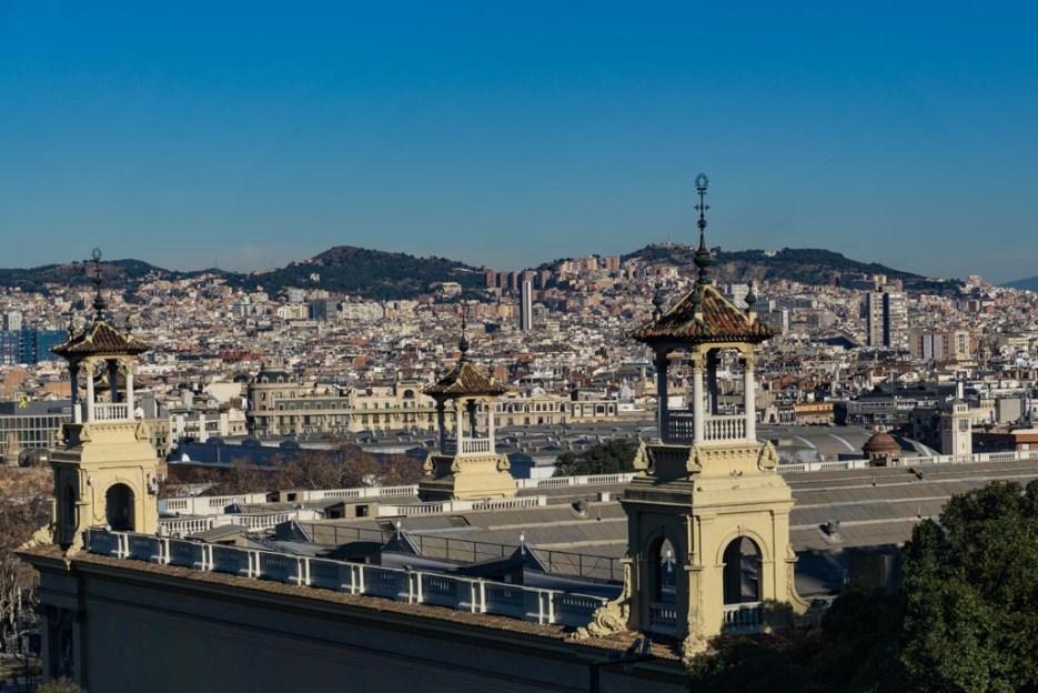 Kurztrip Barcelona Museu Nacional d'Art de Catalunya Aussicht