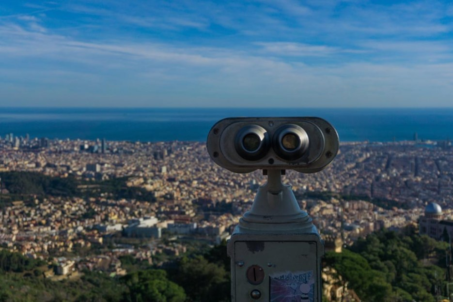 5 Tage Barcelona Tibidabo Aussicht