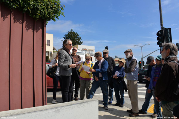 A coal-fired power plant in Sunnyside? History walk guide Amy O'Hair explains. Photo courtesy Bill Wilson http://www.billwilsonphotos.com.