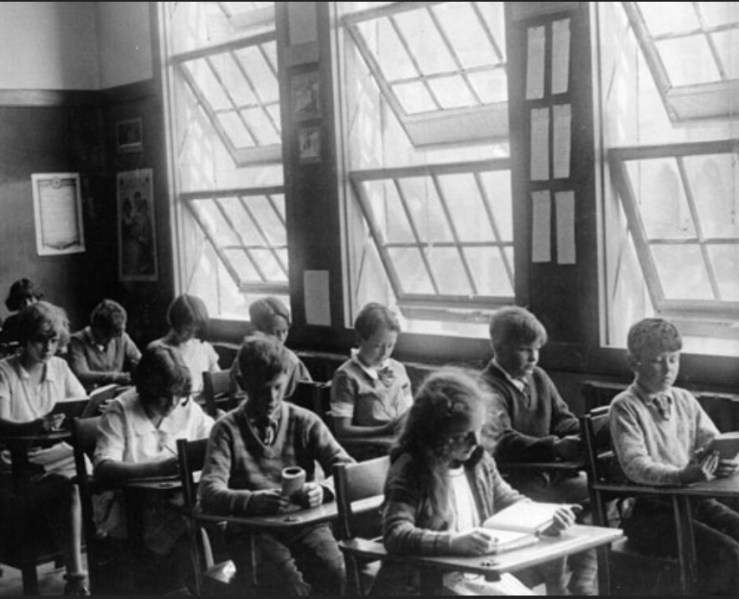 Classroom at Dudley Stone School in SF. 1928. From SF History Center, AAA-9767.