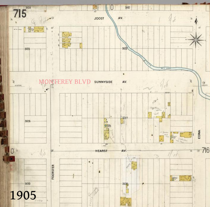 1905 Sanborn map for the blocks just to the east of the Wilson property. No map is available at this time for their area.