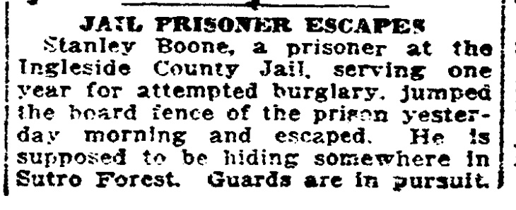 SF Chronicle, 1 July 1916.